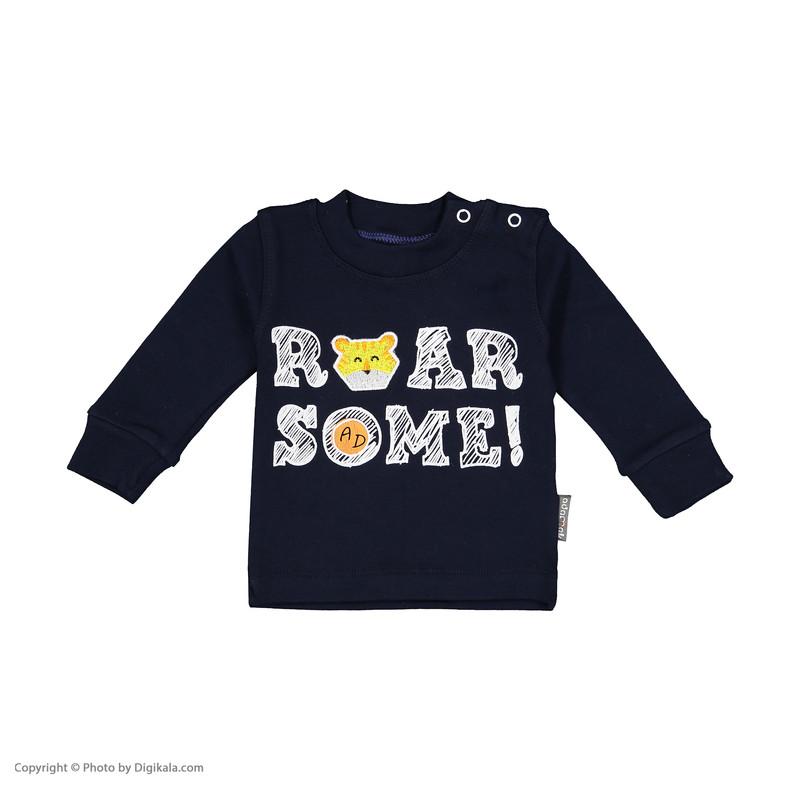 ست تی شرت و شلوار نوزادی پسرانه آدمک مدل 2171123-59