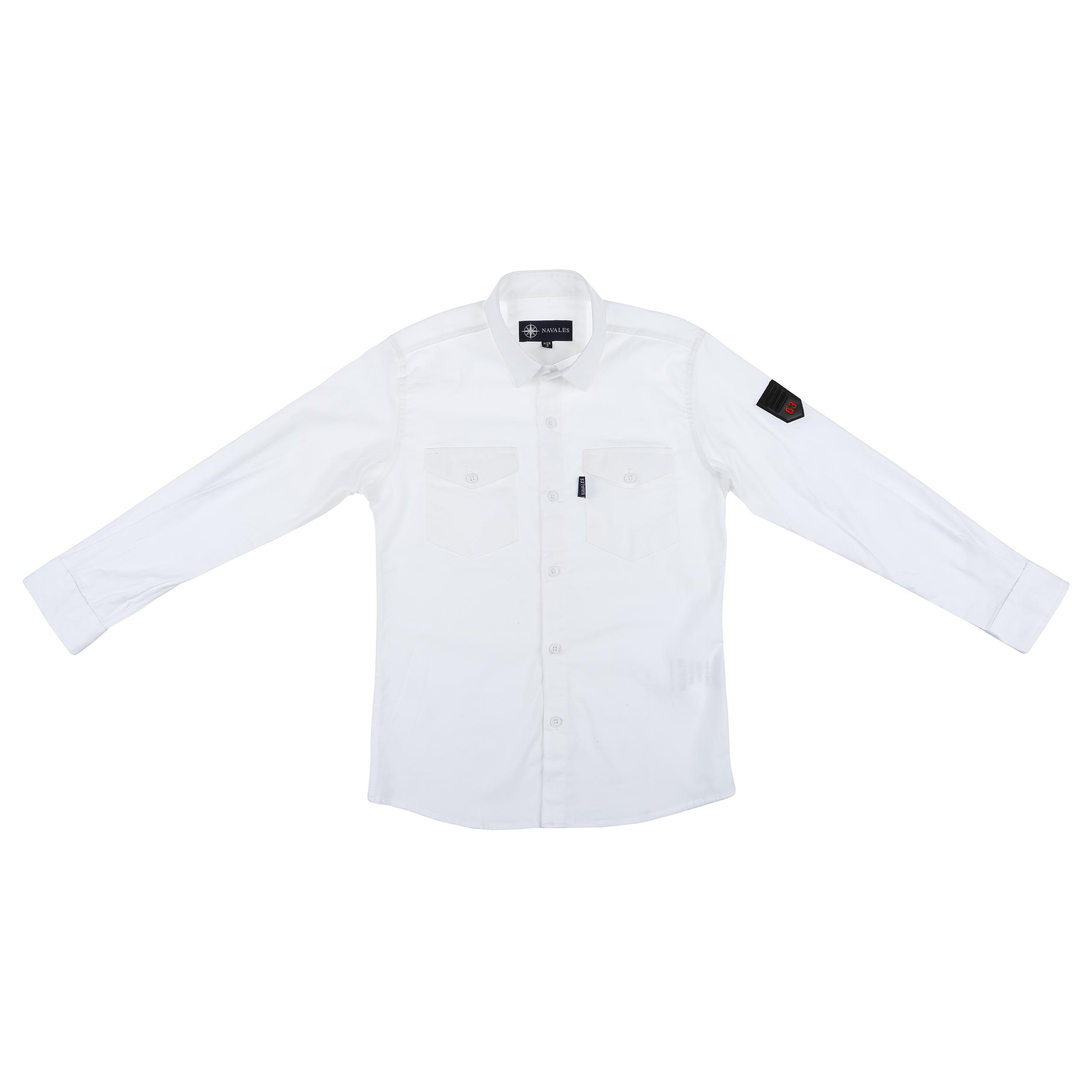 پیراهن پسرانه ناوالس کد 20119-WH main 1 4