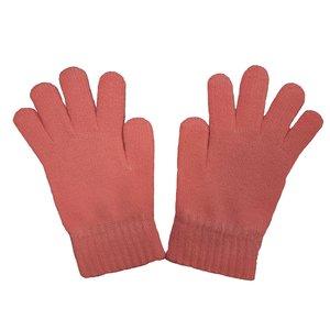 دستکش بافتنی دخترانه مدل AS1090 رنگ صورتی