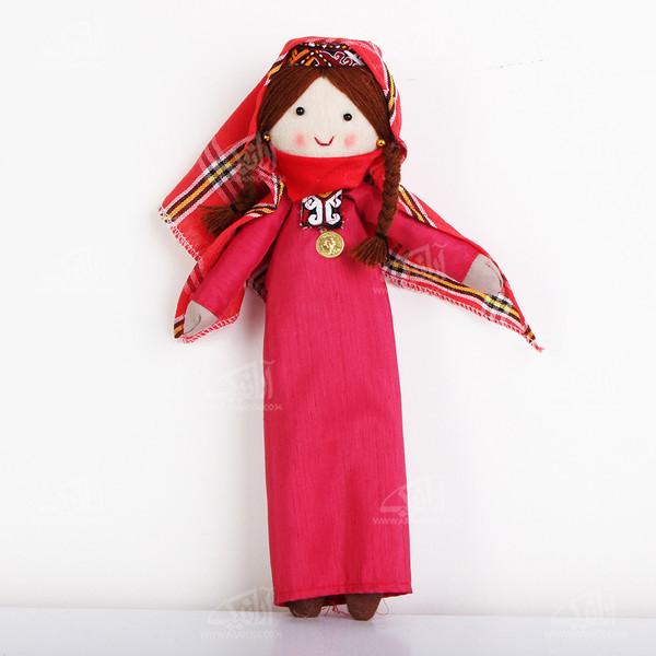 عروسک پارچه ای دست دوز  رنگ صورتی طرح جیران مدل 1606800010