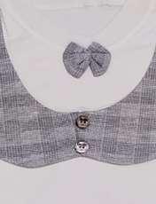 ست تیشرت و شلوار نوزادی پسرانه مدل جنتلمن کد T10 -  - 4