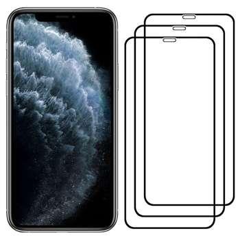 محافظ صفحه نمایش مدل FCG مناسب برای گوشی موبایل اپل iPhone 11 Pro بسته سه عددی