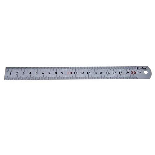 خط کش فوسکا مدل فلزی سایز 20 سانتی متر
