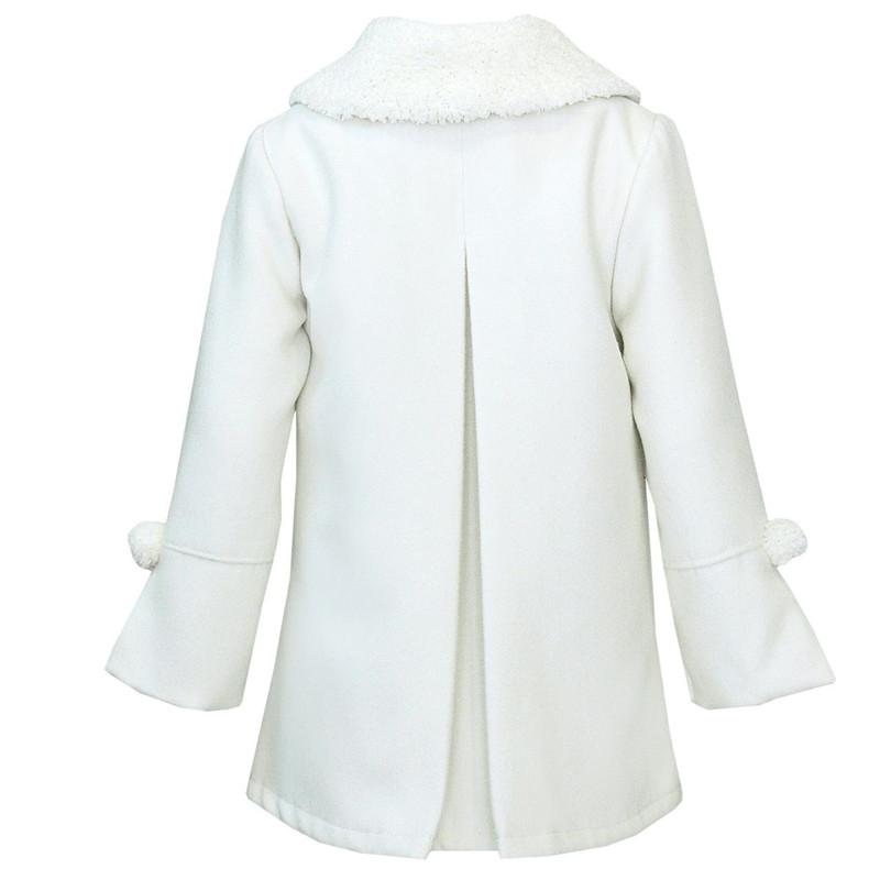 پالتو دخترانه هیلا مدل 3300 رنگ سفید