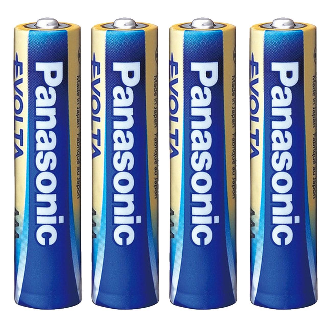 باتری نیم قلمی پاناسونیک مدل High-Tech Evolta Alkaline بسته 4 عددی
