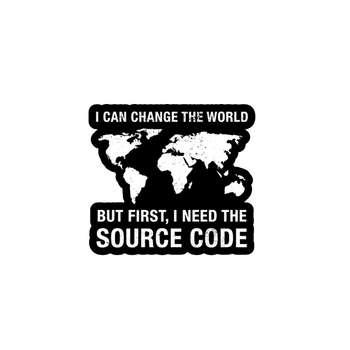 استیکر لپ تاپ لولو طرح من میتونم دنیا رو تغییر بدم برنامه نویسی کد 310