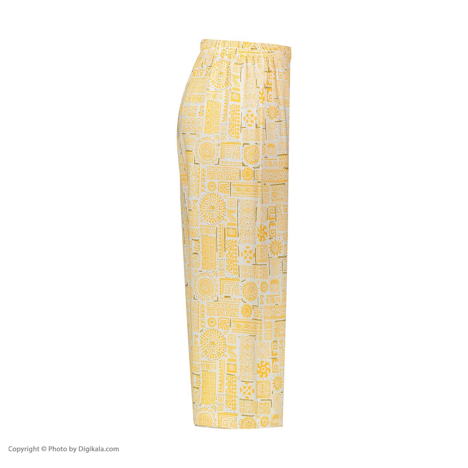 ست تاپ و شلوارک زنانه کد 0217 رنگ زرد -  - 5