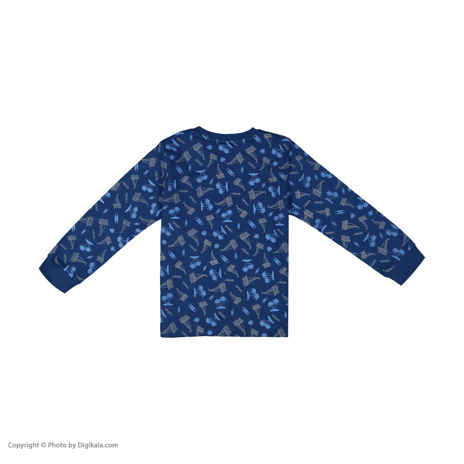 ست تی شرت و شلوار پسرانه مادر مدل 306-79 main 1 3