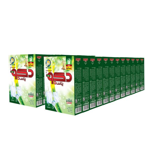 پودر رختشویی دستی دکوپلاس + مدل optical clean وزن 500 گرم بسته 24 عددی