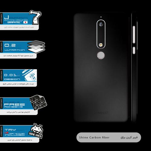 برچسب پوششی ماهوت مدل Black-Matte-FullSkin مناسب برای گوشی موبایل نوکیا 6.1