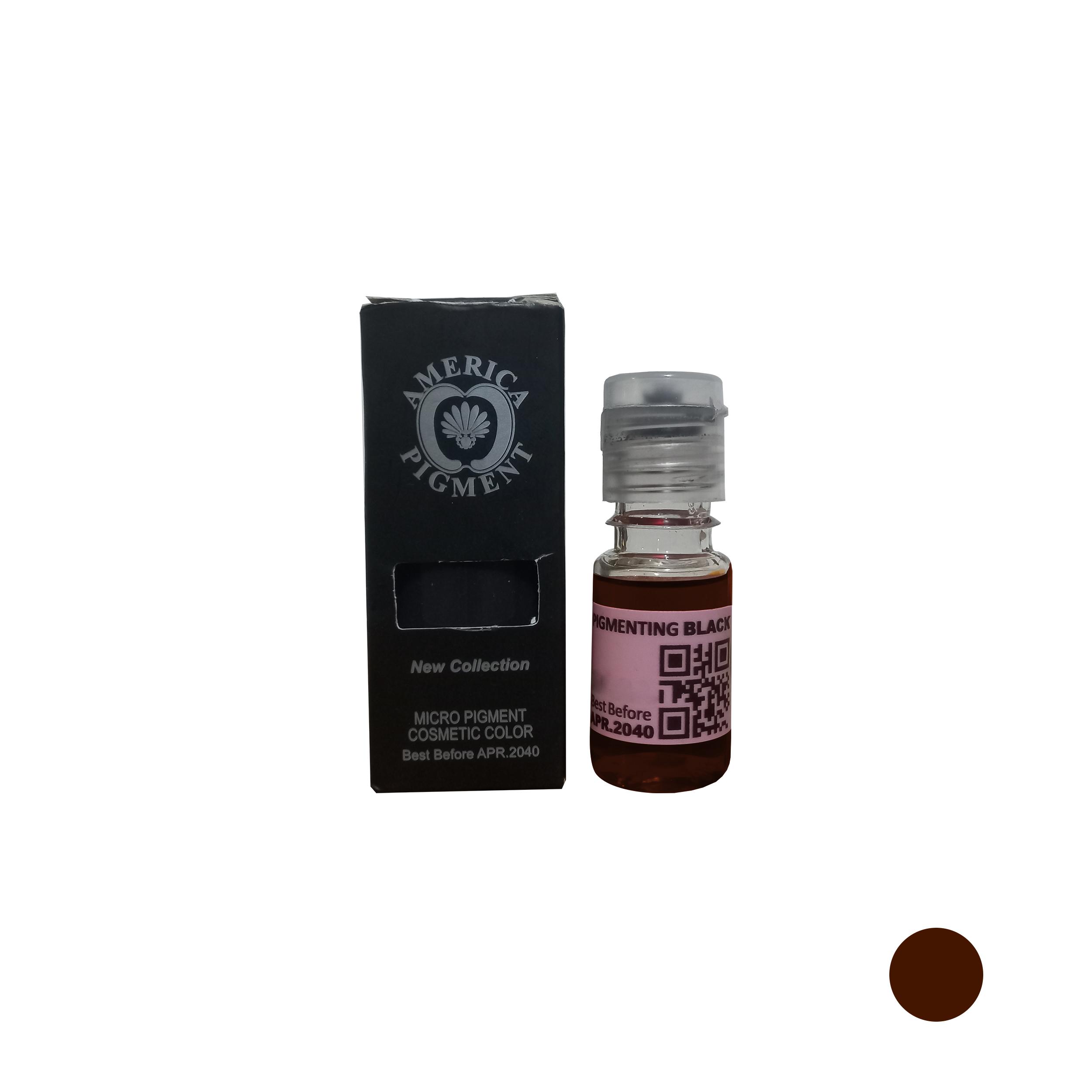 رنگ تتو آمریکاپیگمنت مدل V10 حجم 10 میلی لیتر رنگ قهوه ای تیره