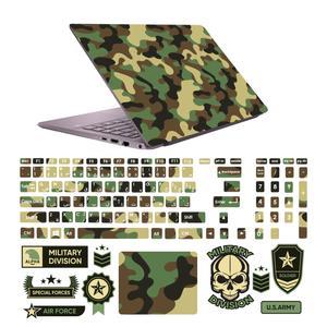 استیکر لپ تاپ صالسو آرت مدل 5089 hk به همراه برچسب حروف فارسی کیبورد
