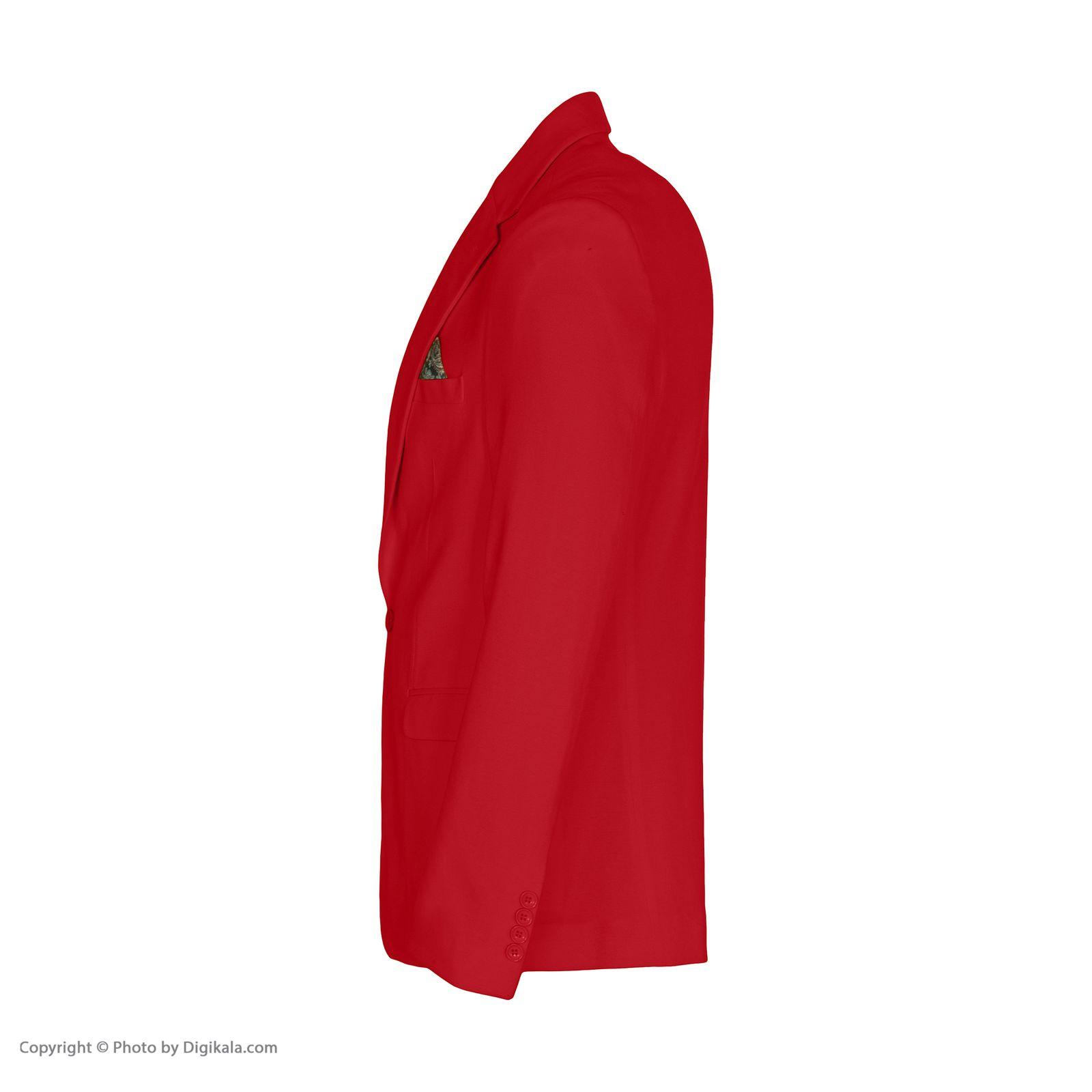 کت تک مردانه ان سی نو مدل جانسو رنگ قرمز -  - 2