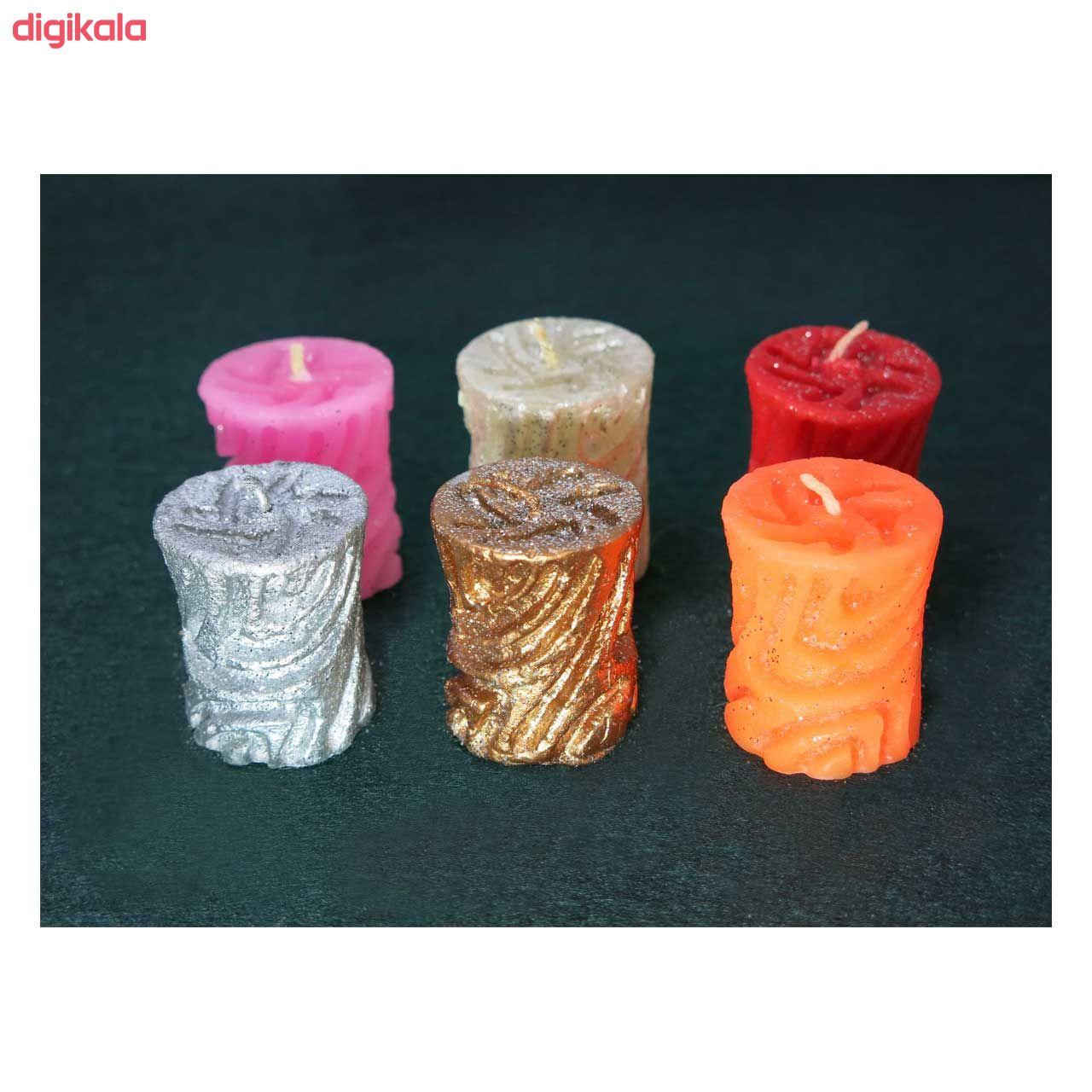 شمع مدل استوانه کد T4 مجموعه 4 عددی main 1 2