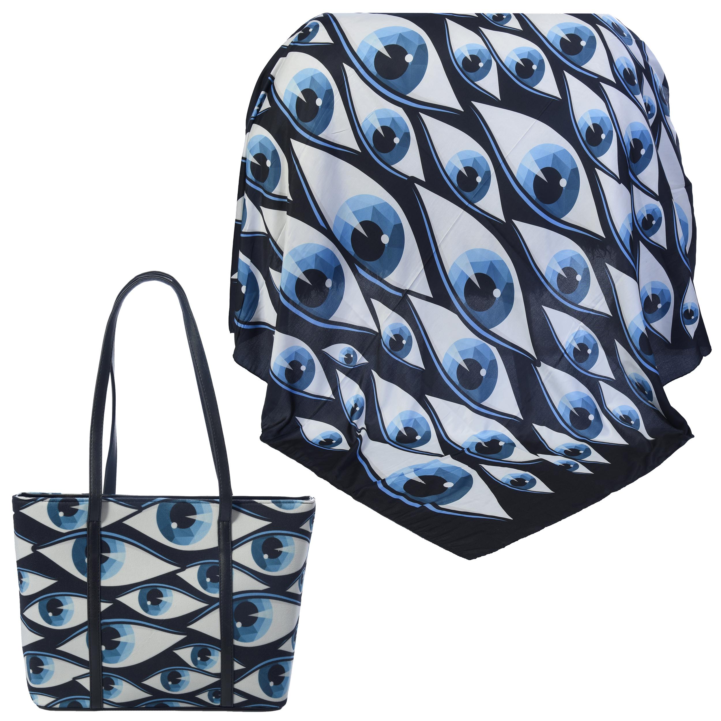 ست کیف و روسری زنانه کد 980225-T1
