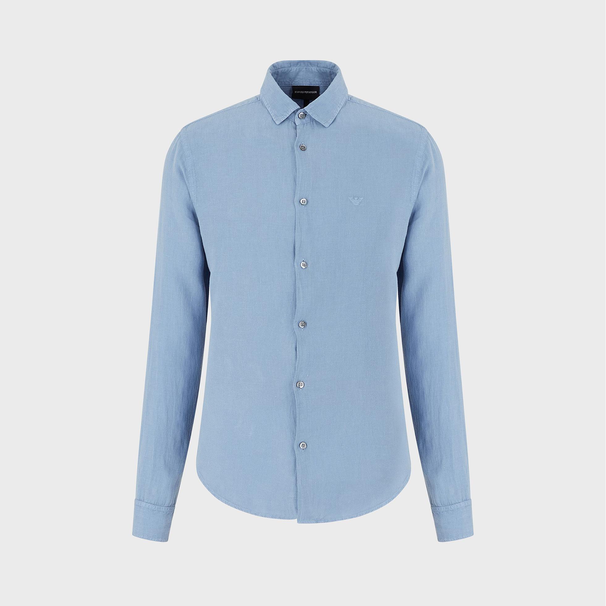 پیراهن آستین بلند مردانه امپریو آرمانی مدل 3H1CA51N5FZ-0780