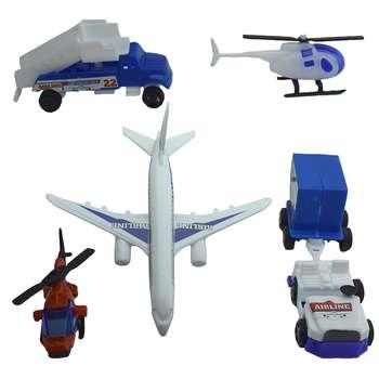 هواپیما بازی مدل فرودگاه بسته 6 عددی