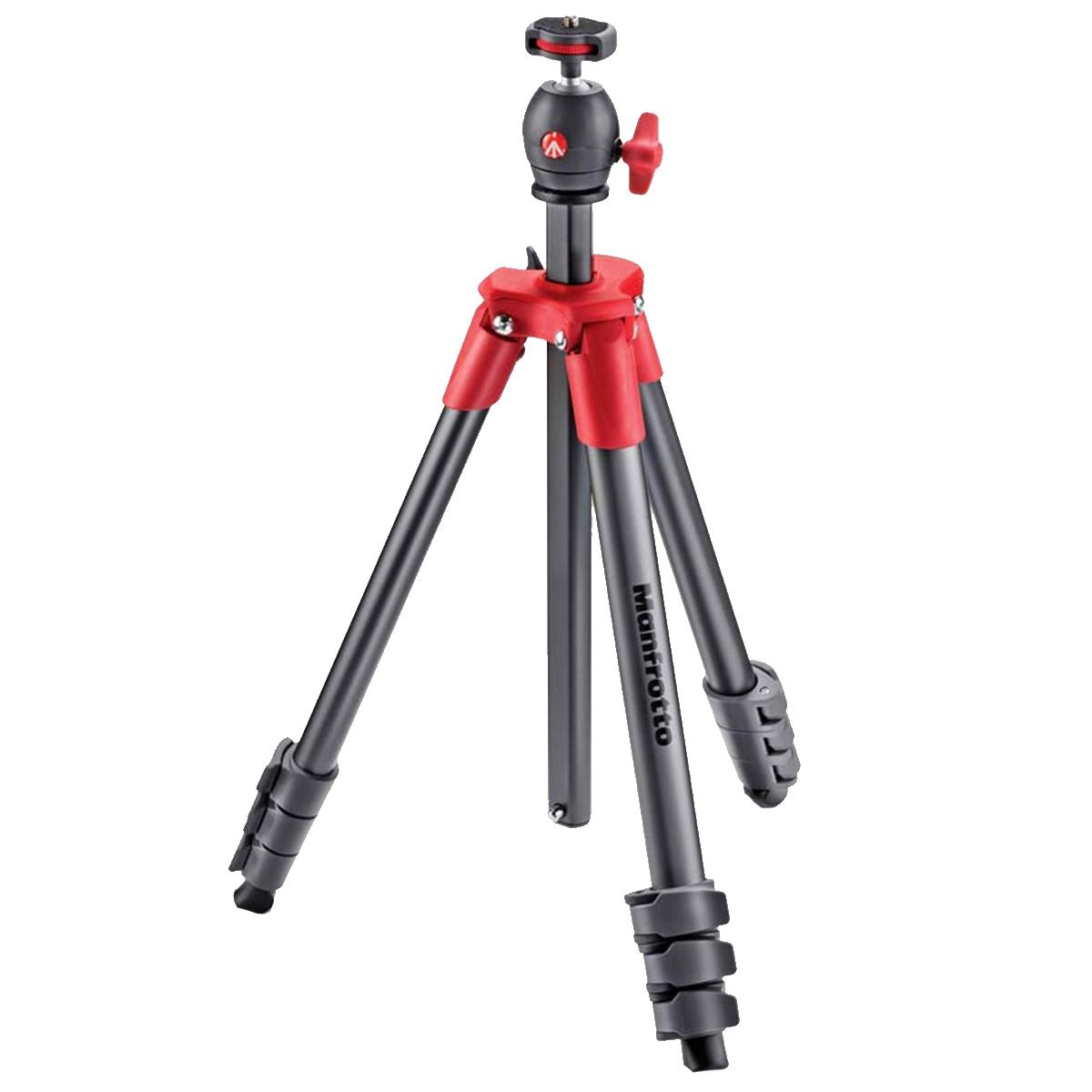 سه پایه دوربین منفروتو مدل MKCOMPACTLT-RD
