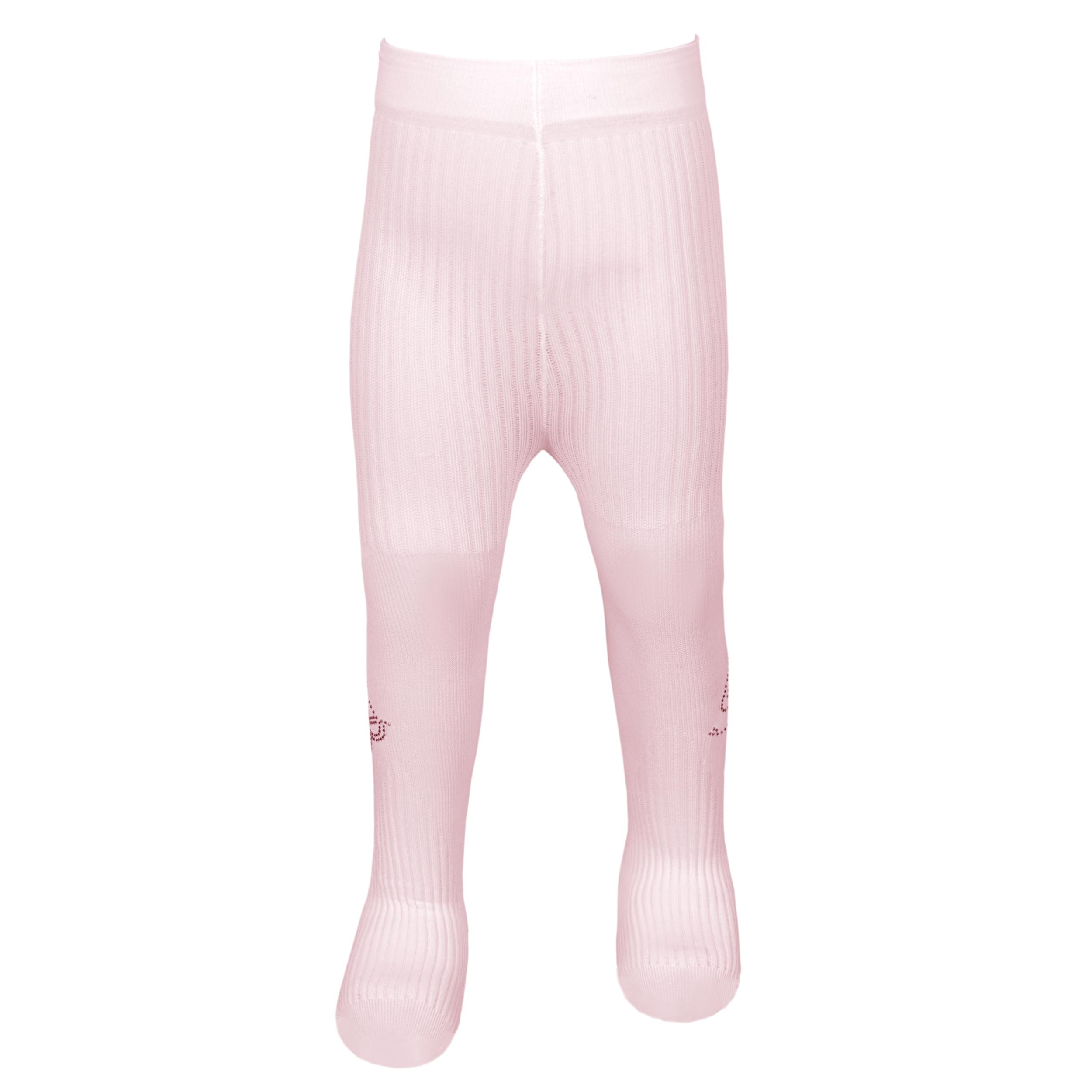 جوراب شلواری نوزادی دخترانه کد G52 رنگ صورتی