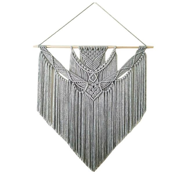 آویز تزیینی بافتنی مدل رعد مکرومه کد 112
