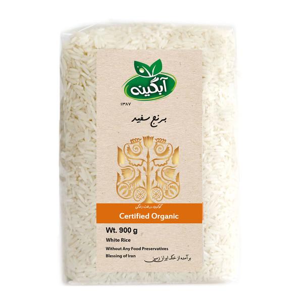برنج سفید هاشمی آبگینه - 900 گرم