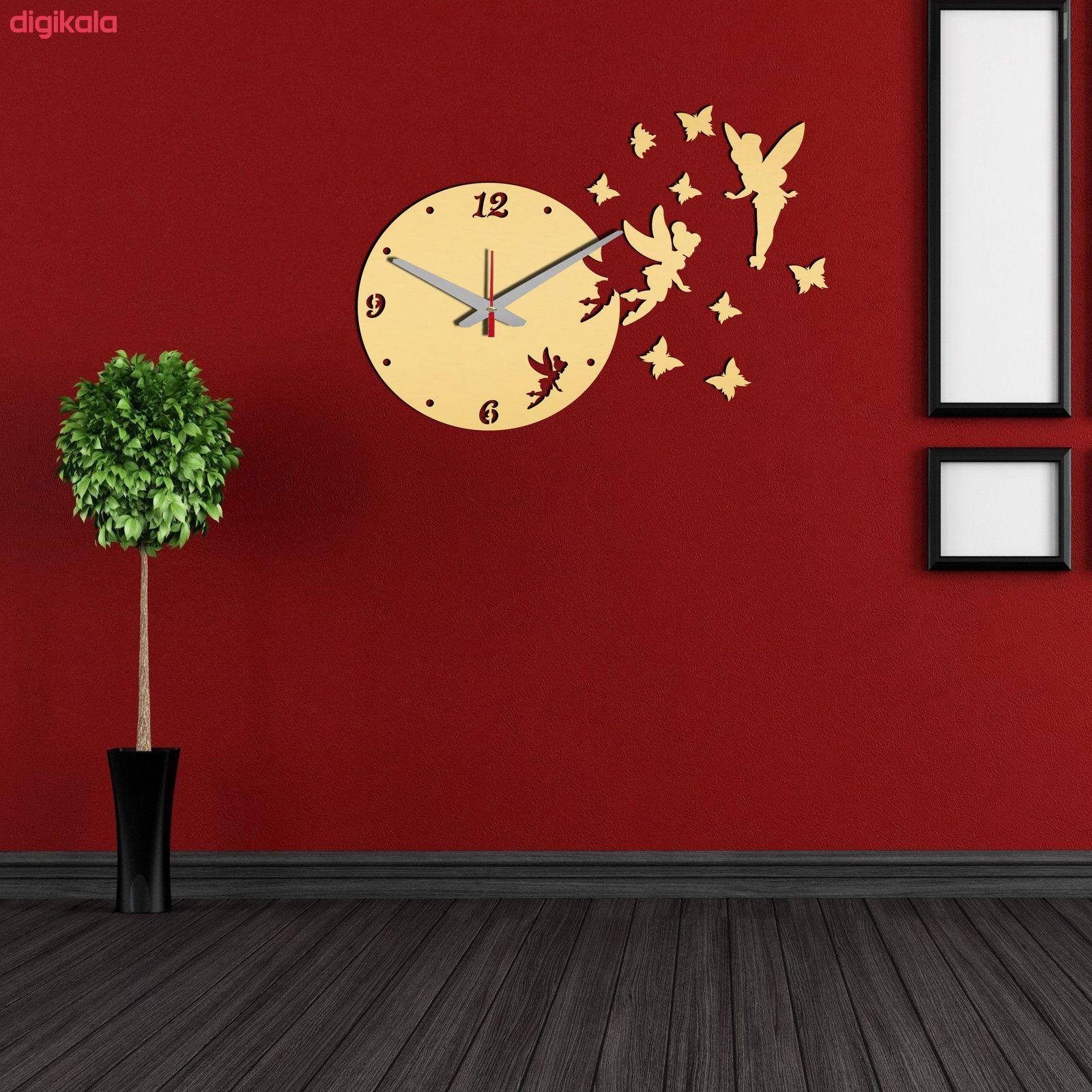 ساعت دیواری بتابی مدل فرشته کد 1057