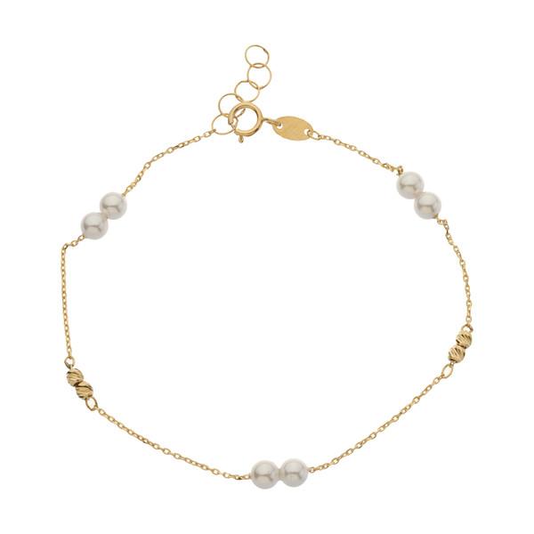 دستبند طلا 18 عیار زنانه مایا ماهک مدل MB1202
