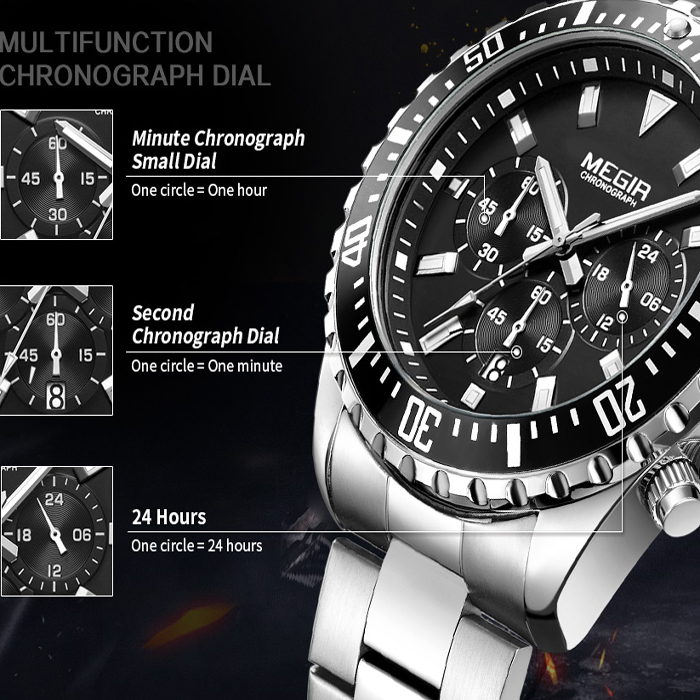 ساعت مچی عقربهای مردانه مگیر مدل 2064