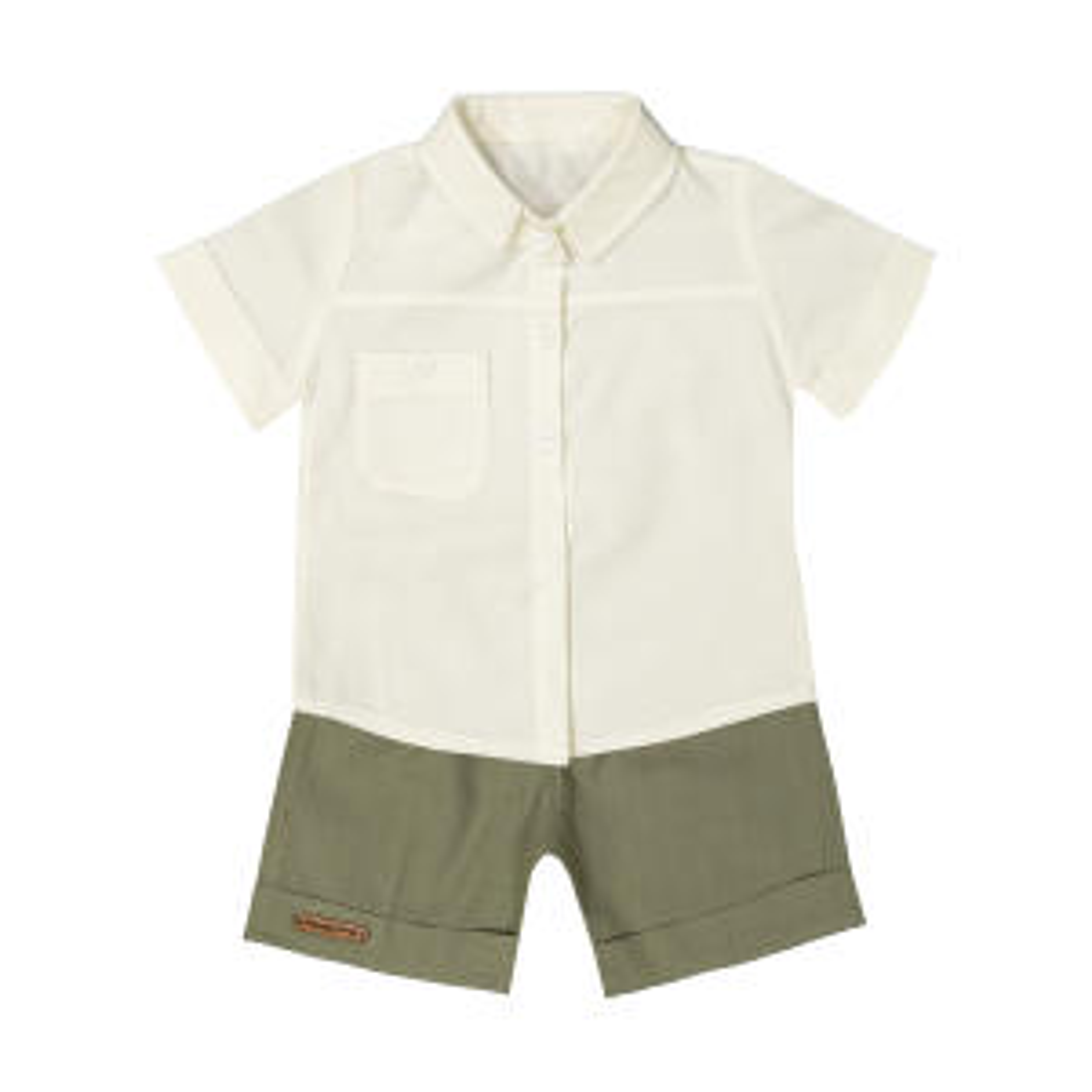 ست پیراهن و شلوارک نوزادی پسرانه ماناپوش کد 1024