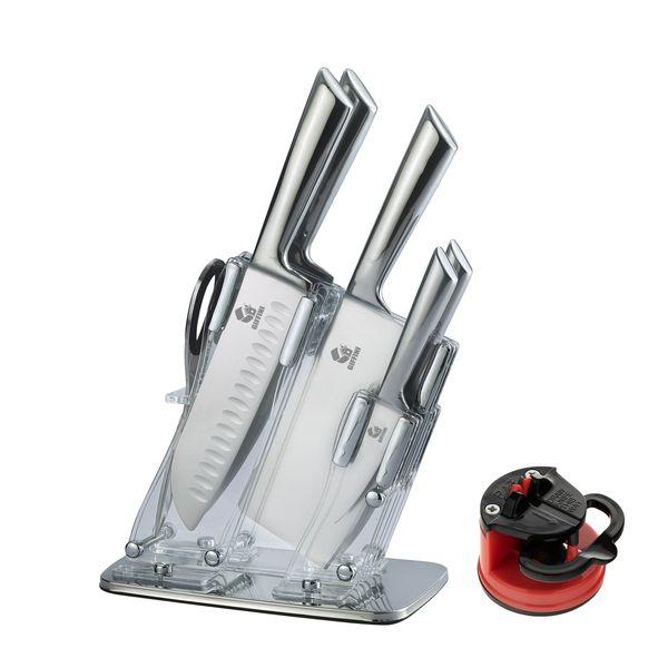 سرویس چاقو آشپزخانه 8 پارچه جی فی نی کد GG.T8