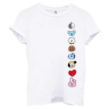 تی شرت آستین کوتاه زنانه اسد طرح BT21 کد 99