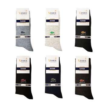 جوراب مردانه ونیز کد AL-V2 مجموعه 6 عددی