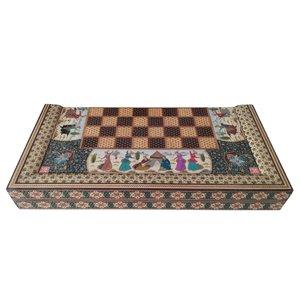 صفحه شطرنج خاتم کاری مدل مینیاتور کد LS-5050