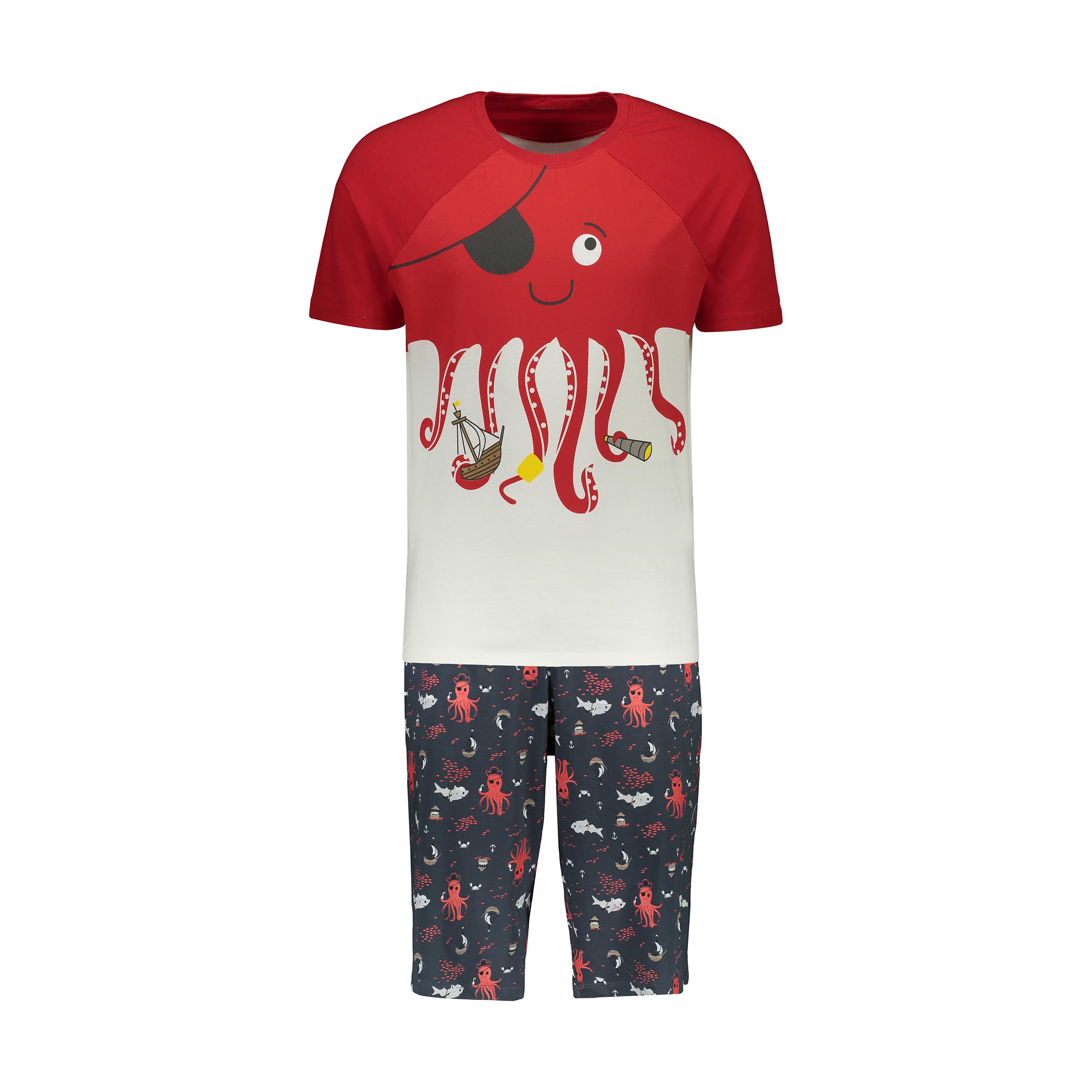 ست تی شرت و شلوارک مردانه مادر مدل villy400-72