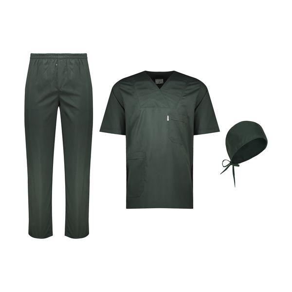 ست لباس اتاق عمل مردانه خضرا مدل اسکراب کد 38024