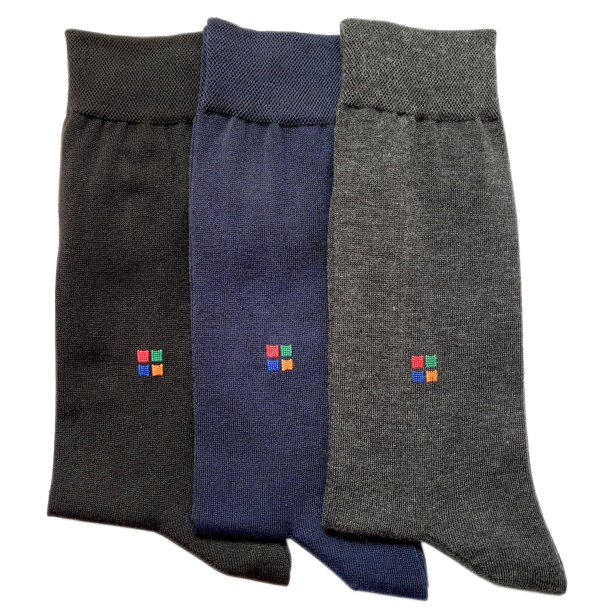 جوراب مردانه کد R303 مجموعه 3 عددی