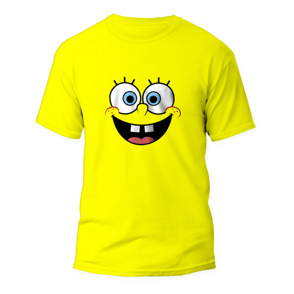 تیشرت مردانه طرح باب اسفنجی کد RT-1023-Y رنگ زرد