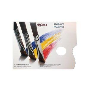 پالت رنگ یکبار مصرف روسو مدل ۳۵ برگ
