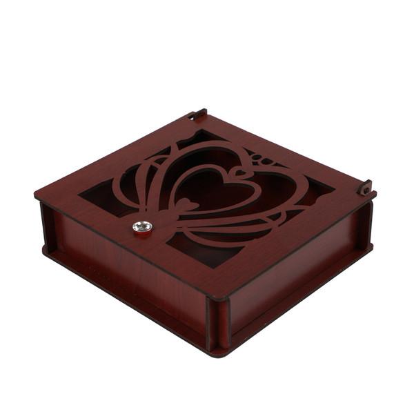 جعبه هدیه طرح سه قلب کد B1