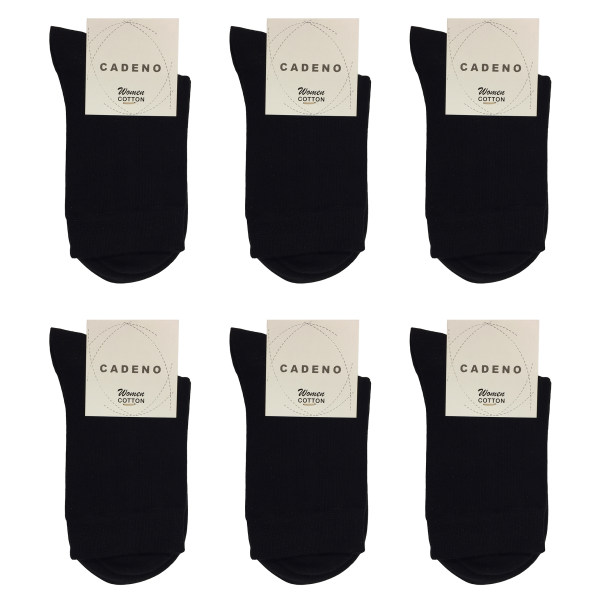جوراب زنانه کادنو کد CAL1045 رنگ مشکی بسته 6 عددی