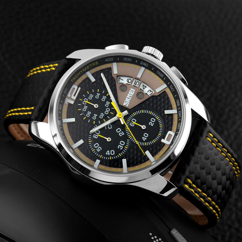 ساعت مچی عقربه ای مردانه اسکمی مدل 9106Y-NP -  - 4