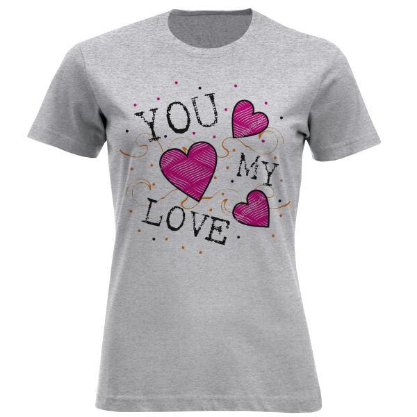 تی شرت آستین کوتاه زنانه مدل F807 MY LOVE