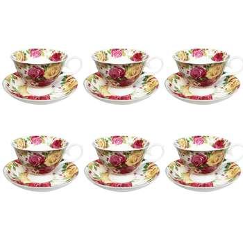 ست فنجان و نعلبکی 12 پارچه جیمناو مدل Rose