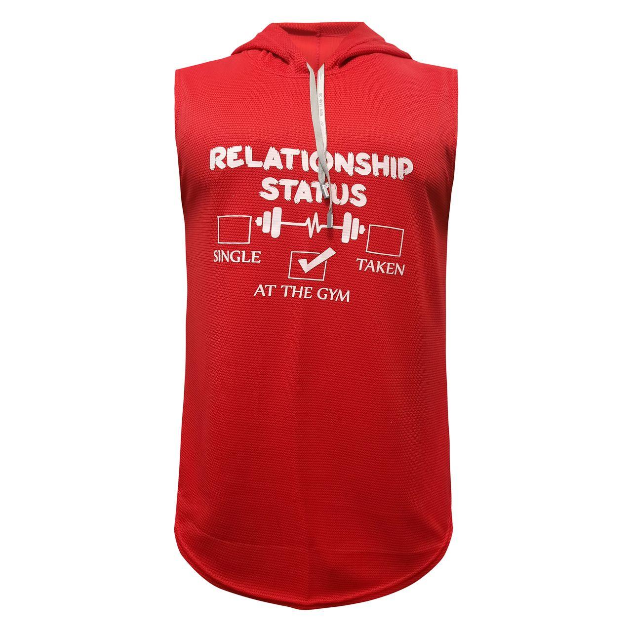 تاپ ورزشی مردانه مدل فلارن کد KLA-RD3 رنگ قرمز