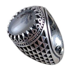 انگشتر نقره مردانه مدل شجر کد PA137