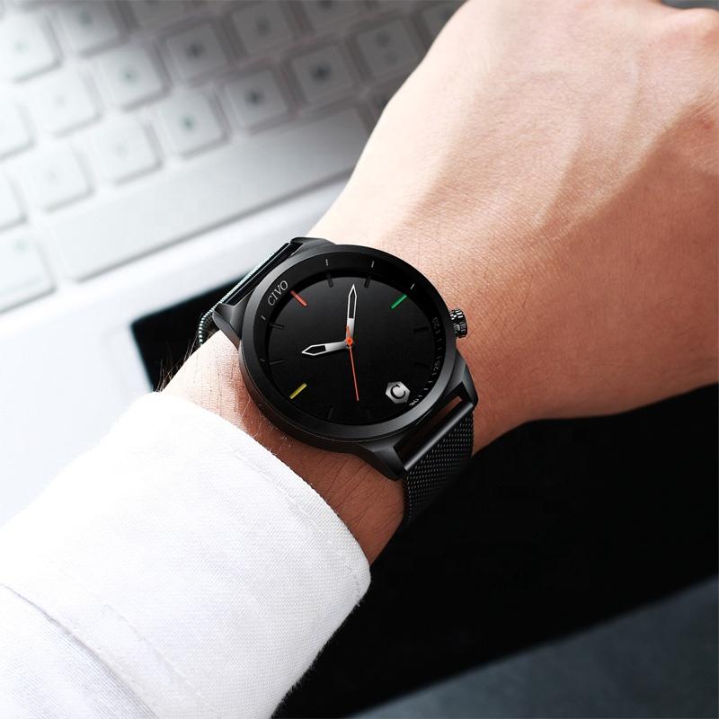 ساعت مچی عقربه ای مردانه سیوو مدل 8110-BK              ارزان