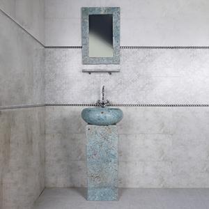 روشویی مدل آرمیتا به همراه آینه و طبقه دیواری