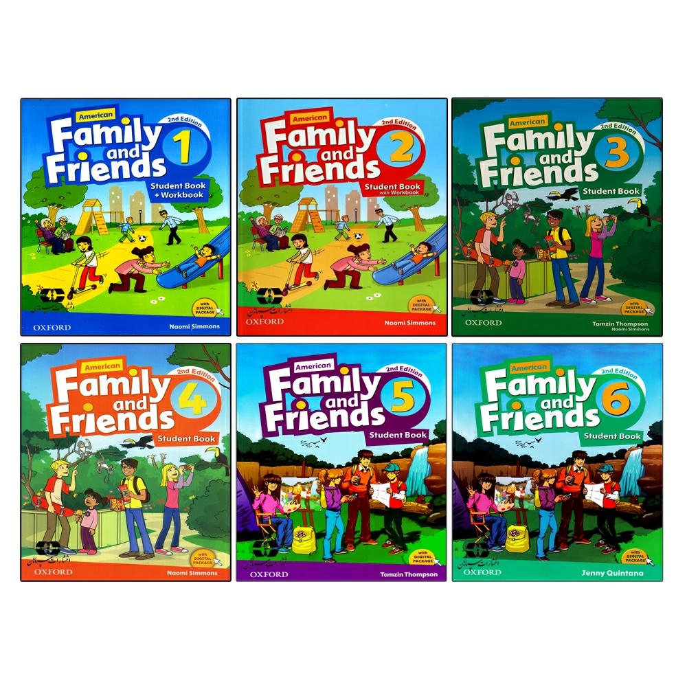 کتاب Family And Friends Second Edition اثر جمعی از نویسندگان انتشارات سپاهان 6 جلدی
