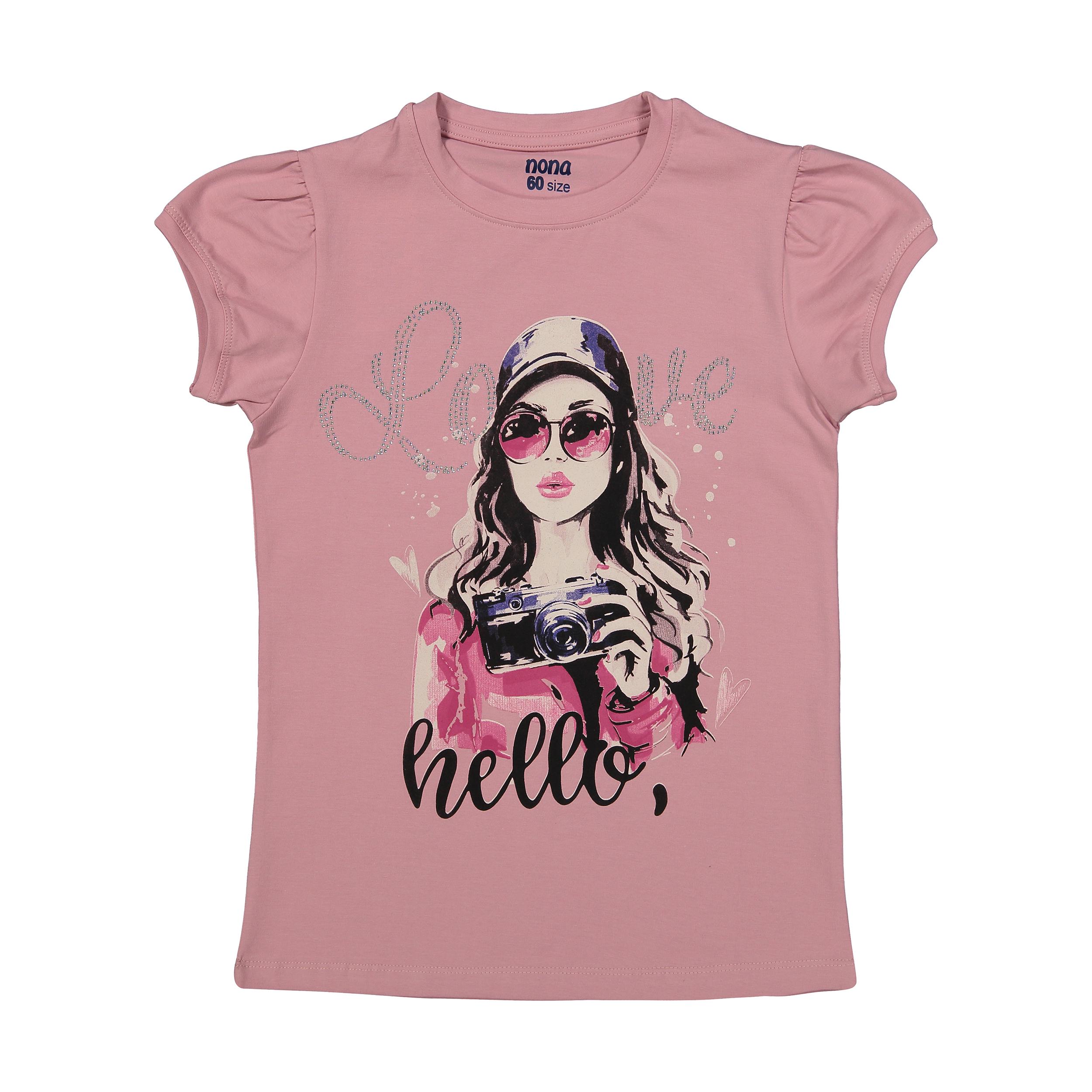 تی شرت دخترانه نونا مدل 2211110-86