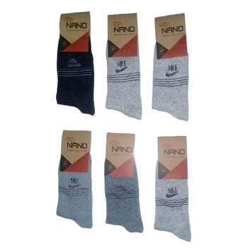 جوراب مردانه مدل A1434 مجموعه 6 عددی